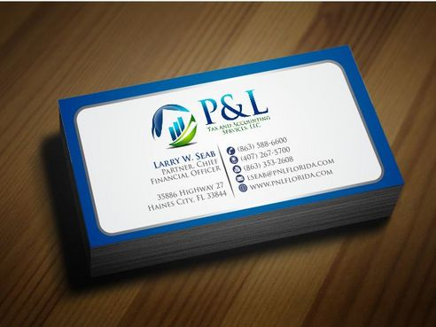 P&L Tax and Accounting Services, LLC Business Cards and Stationery  Draft # 130 by Deck86