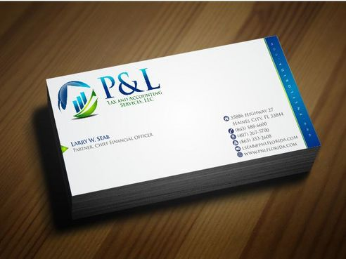 P&L Tax and Accounting Services, LLC Business Cards and Stationery  Draft # 131 by Deck86