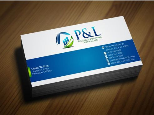 P&L Tax and Accounting Services, LLC Business Cards and Stationery  Draft # 132 by Deck86