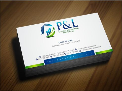 P&L Tax and Accounting Services, LLC Business Cards and Stationery  Draft # 133 by Deck86