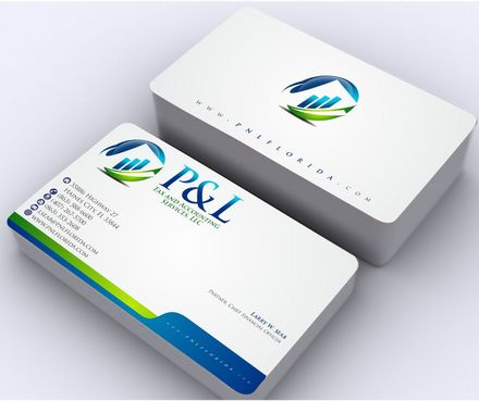 P&L Tax and Accounting Services, LLC Business Cards and Stationery  Draft # 137 by Deck86