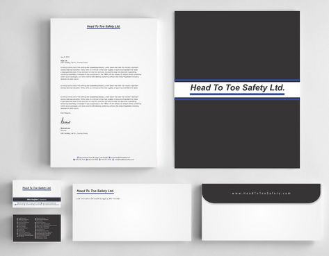 Head To Toe Safety Stationary Business Cards and Stationery  Draft # 128 by Deck86