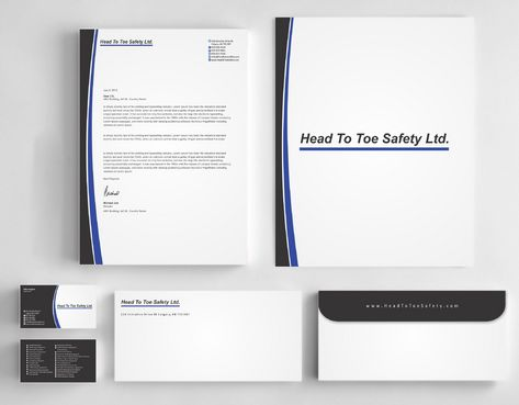 Head To Toe Safety Stationary Business Cards and Stationery  Draft # 127 by Deck86