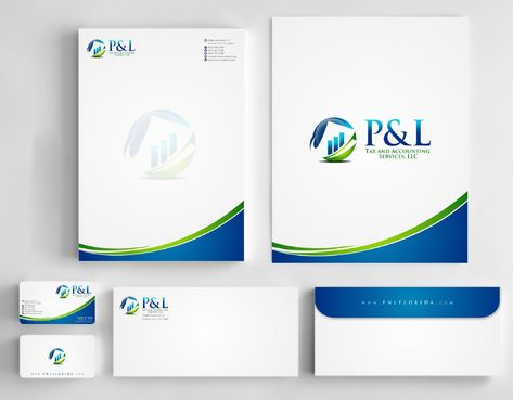 P&L Tax and Accounting Services, LLC Business Cards and Stationery  Draft # 244 by Deck86