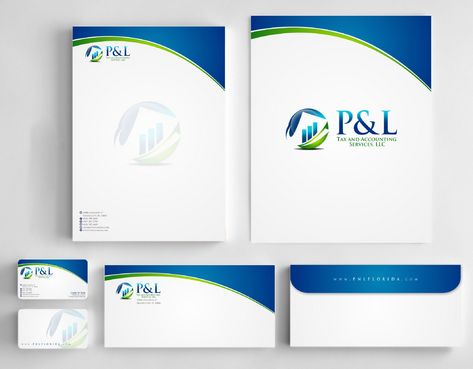 P&L Tax and Accounting Services, LLC Business Cards and Stationery  Draft # 245 by Deck86