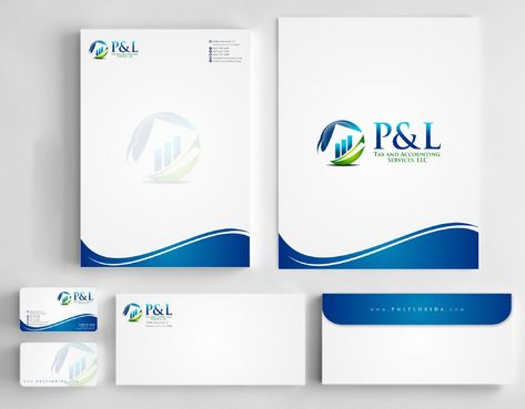 P&L Tax and Accounting Services, LLC Business Cards and Stationery  Draft # 246 by Deck86