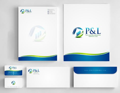 P&L Tax and Accounting Services, LLC Business Cards and Stationery  Draft # 247 by Deck86