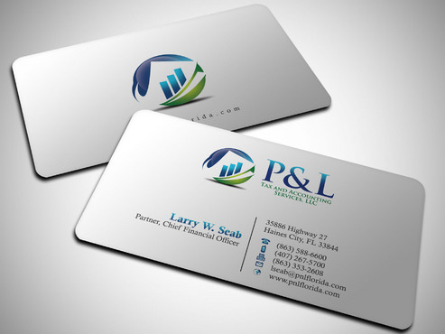 P&L Tax and Accounting Services, LLC Business Cards and Stationery  Draft # 248 by Xpert