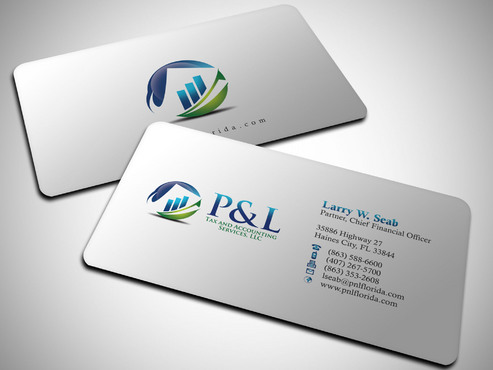 P&L Tax and Accounting Services, LLC Business Cards and Stationery  Draft # 249 by Xpert
