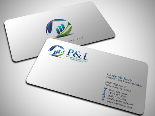 P&L Tax and Accounting Services, LLC Business Cards and Stationery  Draft # 250 by Xpert