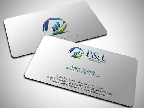 P&L Tax and Accounting Services, LLC Business Cards and Stationery  Draft # 251 by Xpert