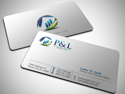 P&L Tax and Accounting Services, LLC Business Cards and Stationery  Draft # 252 by Xpert