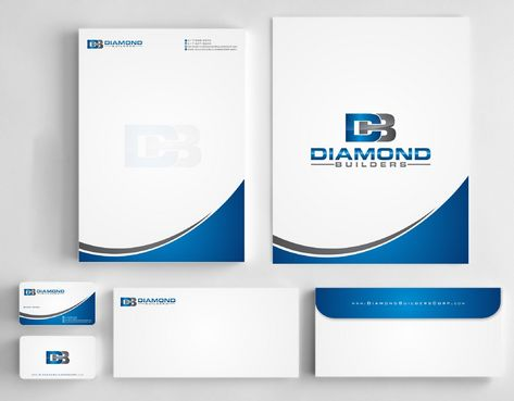 Diamond Builders Business Cards and Stationery  Draft # 177 by Deck86