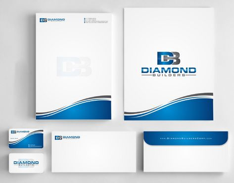 Diamond Builders Business Cards and Stationery  Draft # 179 by Deck86