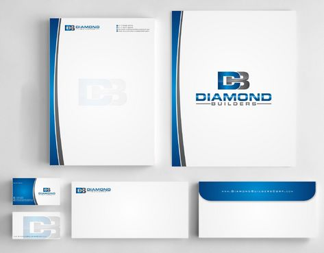 Diamond Builders Business Cards and Stationery  Draft # 180 by Deck86