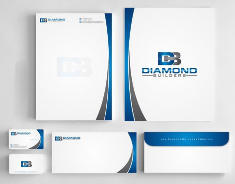 Diamond Builders Business Cards and Stationery  Draft # 181 by Deck86