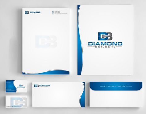 Diamond Builders Business Cards and Stationery  Draft # 183 by Deck86