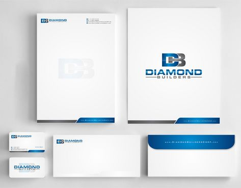 Diamond Builders Business Cards and Stationery  Draft # 184 by Deck86