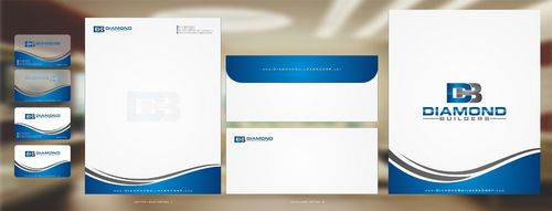 Diamond Builders Business Cards and Stationery  Draft # 186 by Deck86