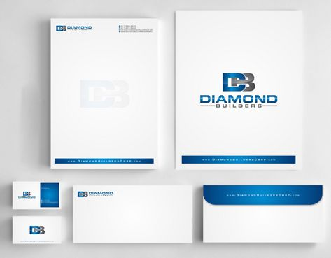 Diamond Builders Business Cards and Stationery  Draft # 185 by Deck86