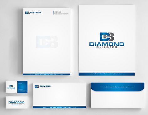Diamond Builders Business Cards and Stationery  Draft # 187 by Deck86