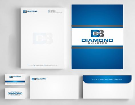 Diamond Builders Business Cards and Stationery  Draft # 188 by Deck86