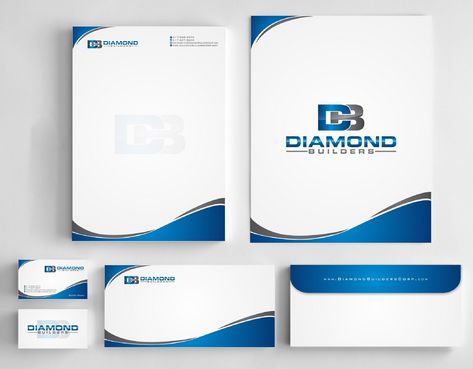 Diamond Builders Business Cards and Stationery  Draft # 191 by Deck86