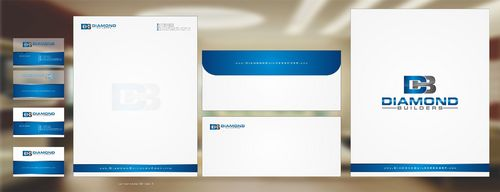 Diamond Builders Business Cards and Stationery  Draft # 192 by Deck86