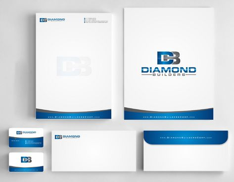 Diamond Builders Business Cards and Stationery  Draft # 193 by Deck86