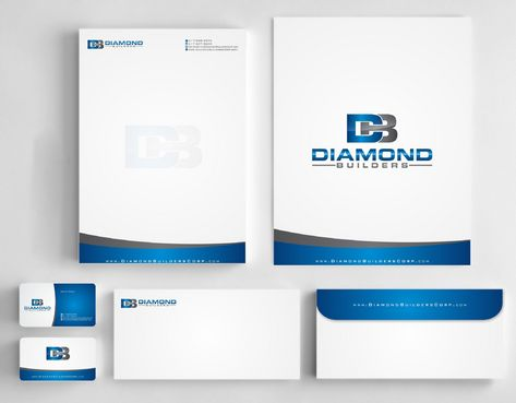 Diamond Builders Business Cards and Stationery  Draft # 194 by Deck86