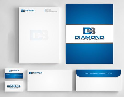 Diamond Builders Business Cards and Stationery  Draft # 196 by Deck86