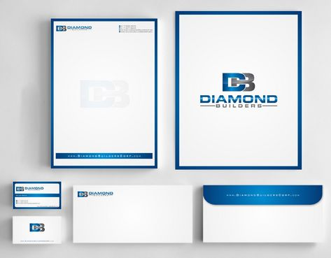 Diamond Builders Business Cards and Stationery  Draft # 197 by Deck86