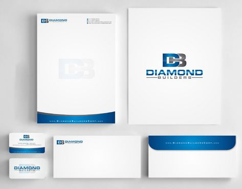 Diamond Builders Business Cards and Stationery  Draft # 198 by Deck86