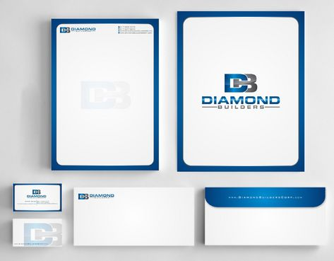 Diamond Builders Business Cards and Stationery  Draft # 199 by Deck86