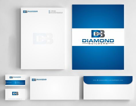 Diamond Builders Business Cards and Stationery  Draft # 202 by Deck86