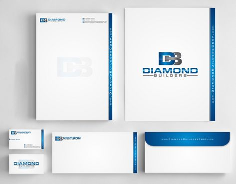 Diamond Builders Business Cards and Stationery  Draft # 200 by Deck86