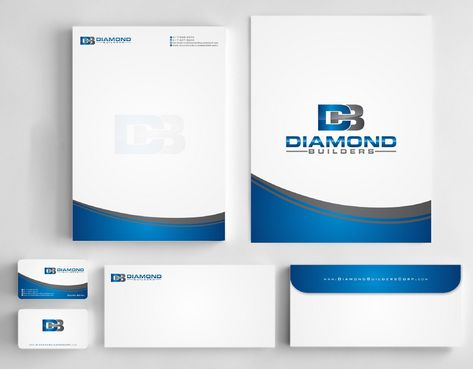 Diamond Builders Business Cards and Stationery  Draft # 203 by Deck86