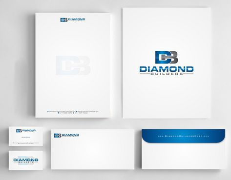 Diamond Builders Business Cards and Stationery  Draft # 204 by Deck86