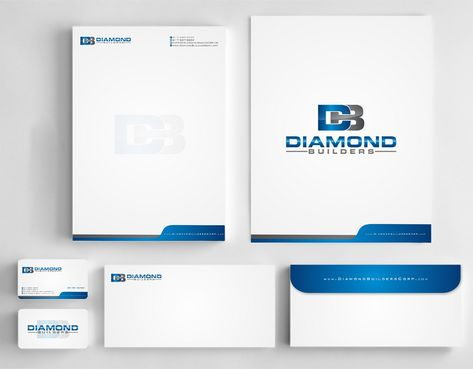 Diamond Builders Business Cards and Stationery  Draft # 205 by Deck86