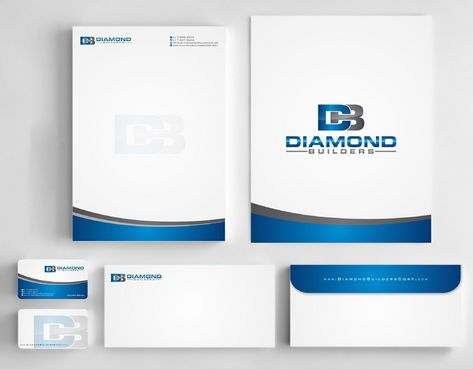 Diamond Builders Business Cards and Stationery  Draft # 206 by Deck86