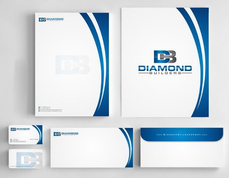 Diamond Builders Business Cards and Stationery  Draft # 208 by Deck86
