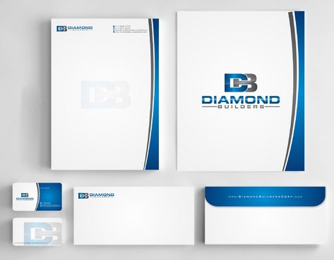 Diamond Builders Business Cards and Stationery  Draft # 209 by Deck86