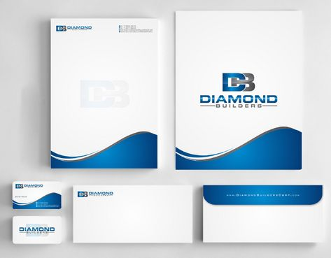 Diamond Builders Business Cards and Stationery  Draft # 210 by Deck86