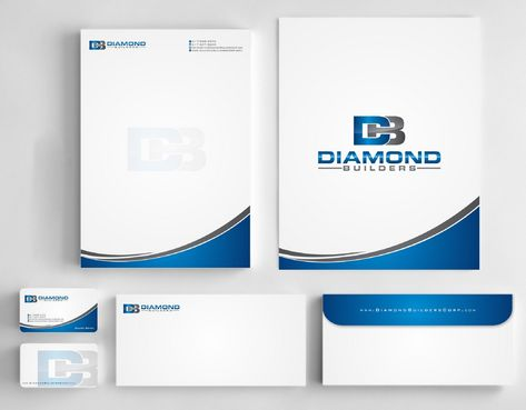 Diamond Builders Business Cards and Stationery  Draft # 211 by Deck86
