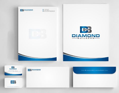 Diamond Builders Business Cards and Stationery  Draft # 212 by Deck86