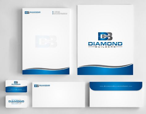 Diamond Builders Business Cards and Stationery  Draft # 213 by Deck86