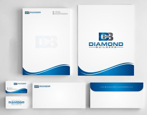 Diamond Builders Business Cards and Stationery  Draft # 214 by Deck86