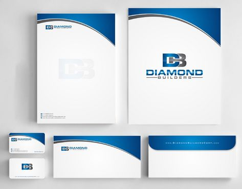 Diamond Builders Business Cards and Stationery  Draft # 215 by Deck86