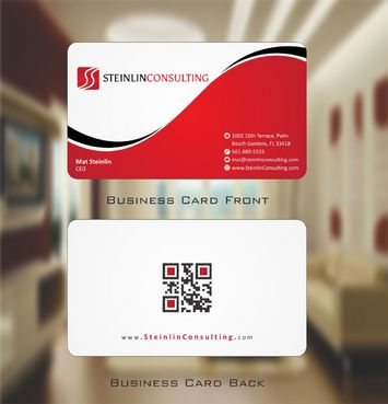 Steinlin Consulting Business Cards and Stationery  Draft # 148 by Deck86
