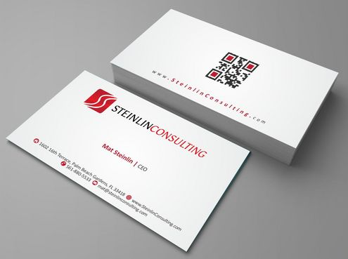 Steinlin Consulting Business Cards and Stationery  Draft # 163 by Deck86